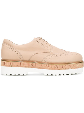 brogue shoes women shoes leather nude