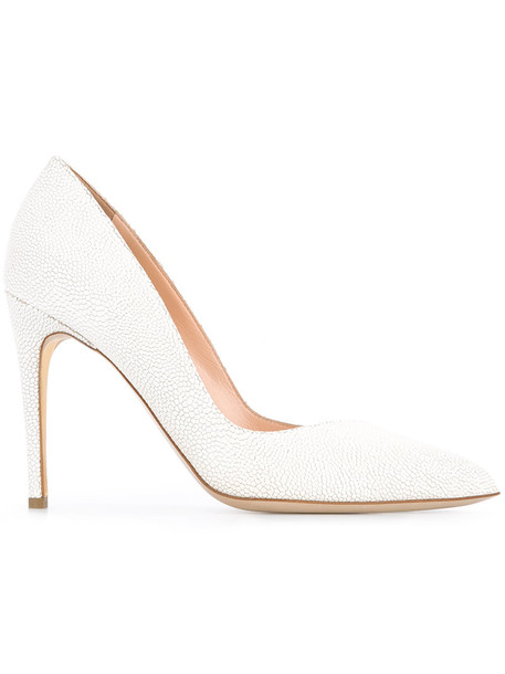 Rupert Sanderson pointed toe pumps women pumps leather white shoes
