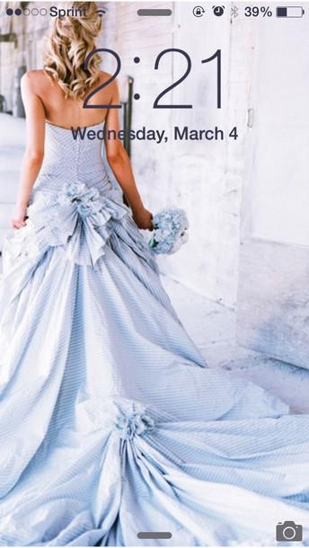dress blue wedding dress