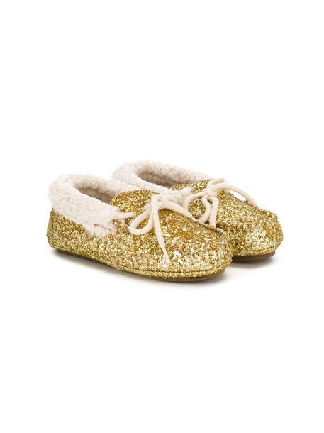 Ralph Lauren Kids glitter shoes wool grey metallic