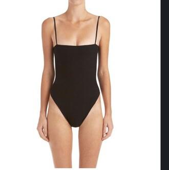 top bodysuit black one piece sexy