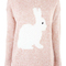 Pink rabbit jumper at fashion union