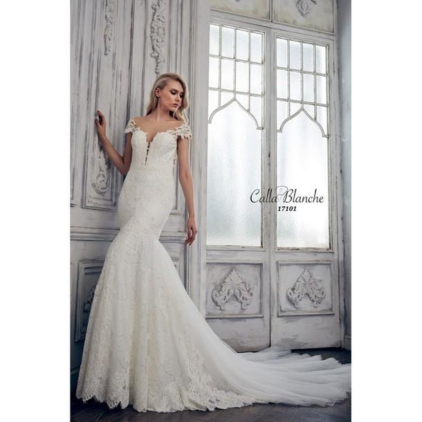 dress unique shoes doll callar high-low dresses dentelle blanche lace dress