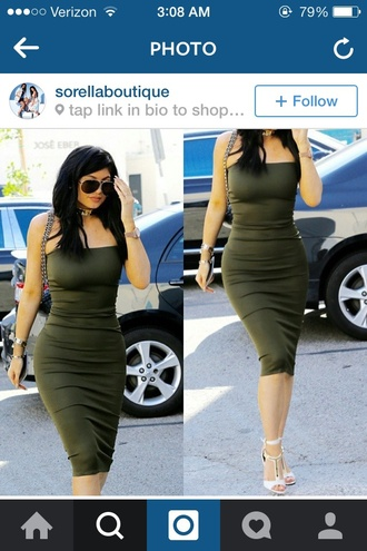 dress green dress kylie jenner green navygreendress bodycon dress maxi dress straplessdress