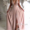 A-line backless long prom dress, evening dress - 24prom