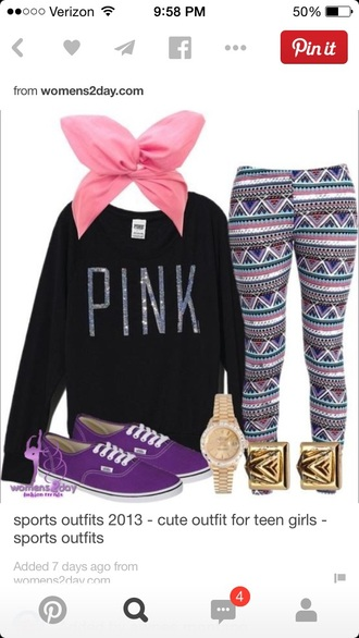 sweater outfit leggings style pink