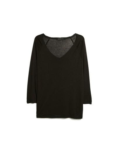 raw edge flowy t-shirt