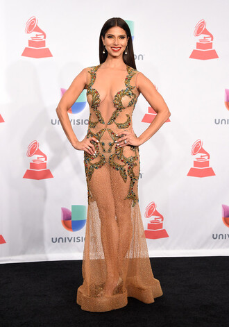 sheer gown prom dress roselyn sanchez
