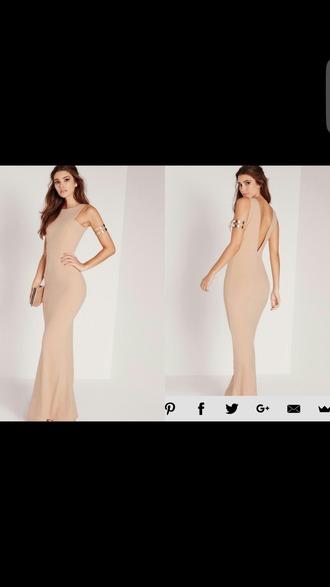 dress prom prom dress nude nude dress bracelets silver bracelet prom gown long dress maxi dress