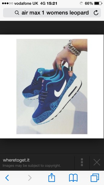 shoes nike air max 1 brave  blue