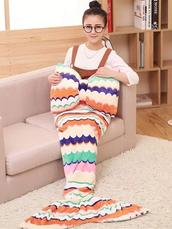 home accessory,mermaid blanket,flannel mermaid blanket