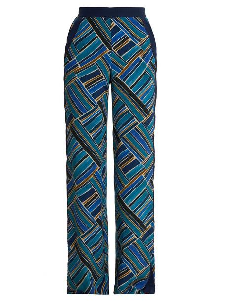 Talitha print blue pants