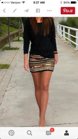 skirt sequined skirt multicolored skirt mini skirt