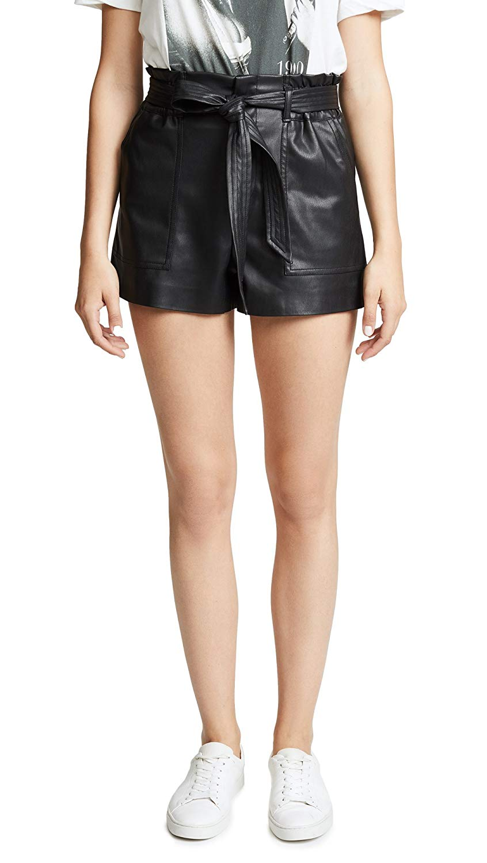 [BLANKNYC] Blank Denim Women's Dark Web Vegan Leather Shorts at Amazon Women's Clothing store:
