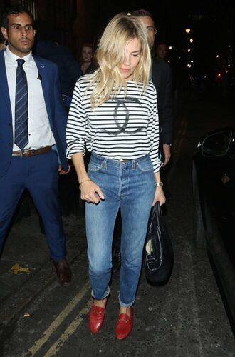 blouse sienna miller top jeans denim