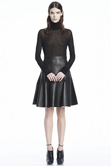 Torre Leather Skirt   J Brand