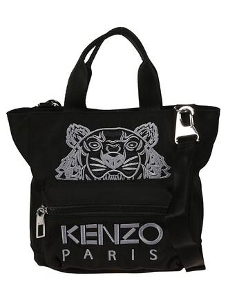 embroidered tiger bag shoulder bag black