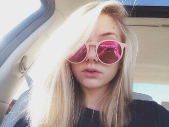 sunglasses maddi bragg pink mirror youtuber justice pirate