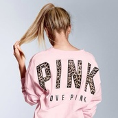 shirt,sweater,victoria secret sweater,pink by victorias secret
