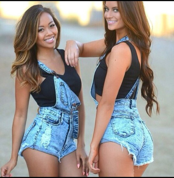bright jeans overalls dungarees short overalls