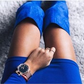 jewels,blue,style,fashion,watch,navy,dress,shoes,skirt,suède,short navy blue dress,over the knee boots