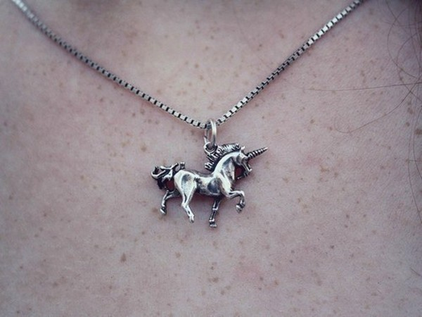 jewels necklace jewelry pendant unicorn