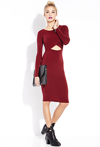 Be Seen Midi Dress | FOREVER21 - 2000073613