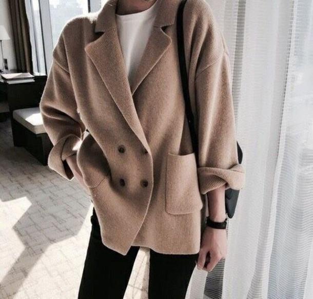 coat beige brown wool coat winter outfits
