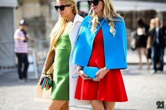 jacket colorblock poncho