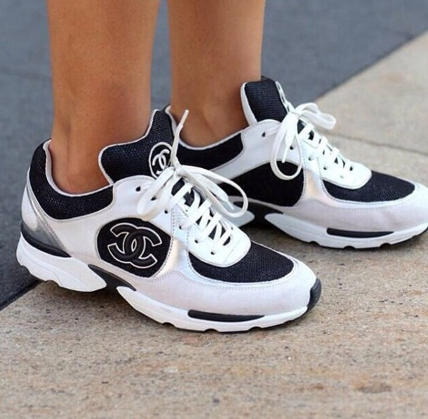 shoes chanel sneakers white sneakers coco chanel shoes