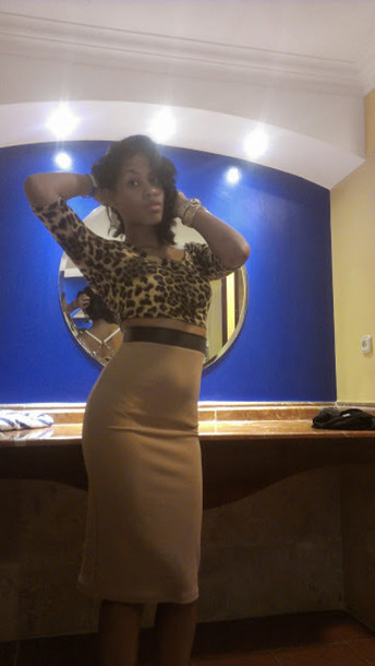 skirt fashion fashionista leopard print top