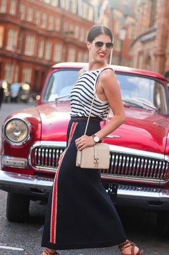 thank fifi blogger tank top skirt shoes bag jewels