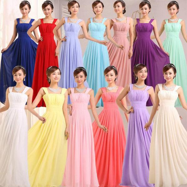 wedding party gowns long dress cheap dresses 2014 bridesmaid cap sleeves dresses chiffon dress a line dress long prom dress dress
