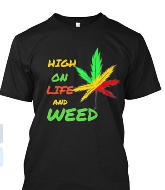 t-shirt weed rasta black marijuana high life swag fashion menswear