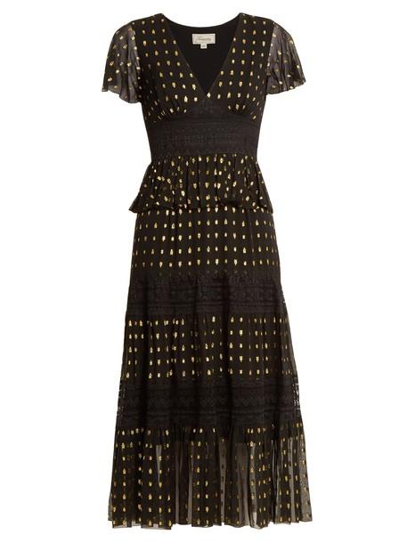 Temperley London dress chiffon dress chiffon lace black
