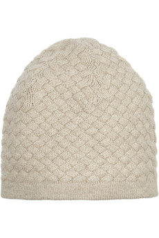 N.Peal Cashmere Basketweave cashmere beanie - 45% Off Now at THE OUTNET