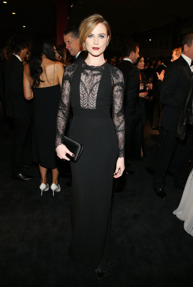 evan rachel wood dress black prom dress gown