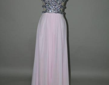 Gorgeous light pink floor length ba..