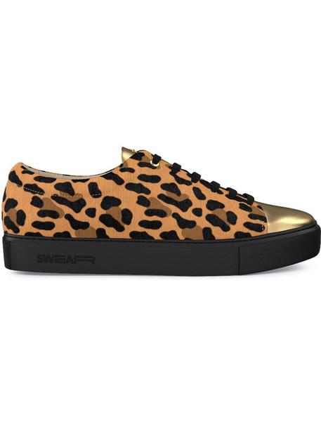 SWEAR hair women sneakers leather black shoes