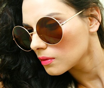 Retro Vintage Huge Big Oversized Round Metal Gold Frame Women Sunglasses Shades | eBay