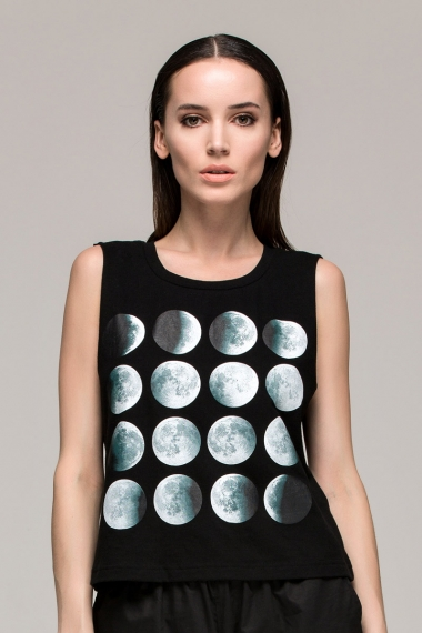 Short Vest Printed with Eclipse - FrontRowShop