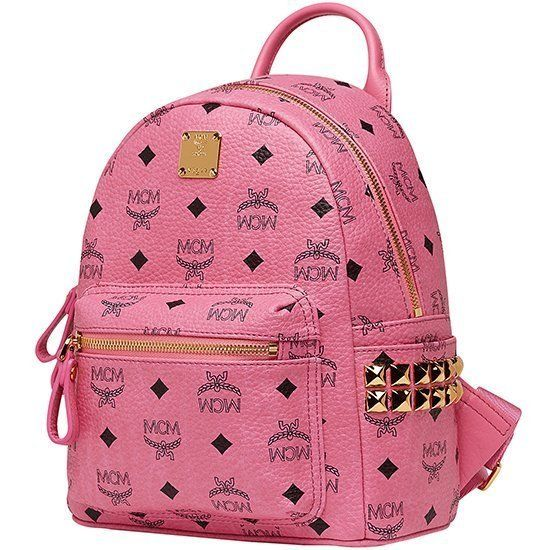 Authentic MCM 13AW Stark Visetos Backpack Pink Original New Mini MMK3AVE41PK | eBay