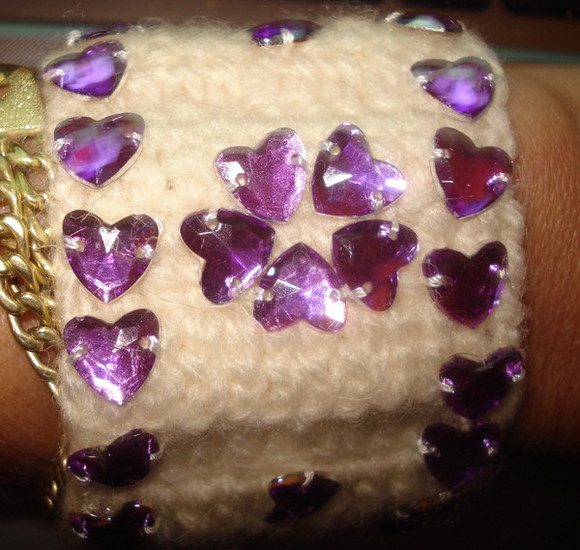 cuff jewels jewelry bracelet women wedding gifts bridesmaid gifts knitting knitting cuff ivory cuff beige boot cuffs crochet purple cuff purple swimwear handmade colorful bracelets handmade holidays holiday accessories gift gifts valentines day gift for her