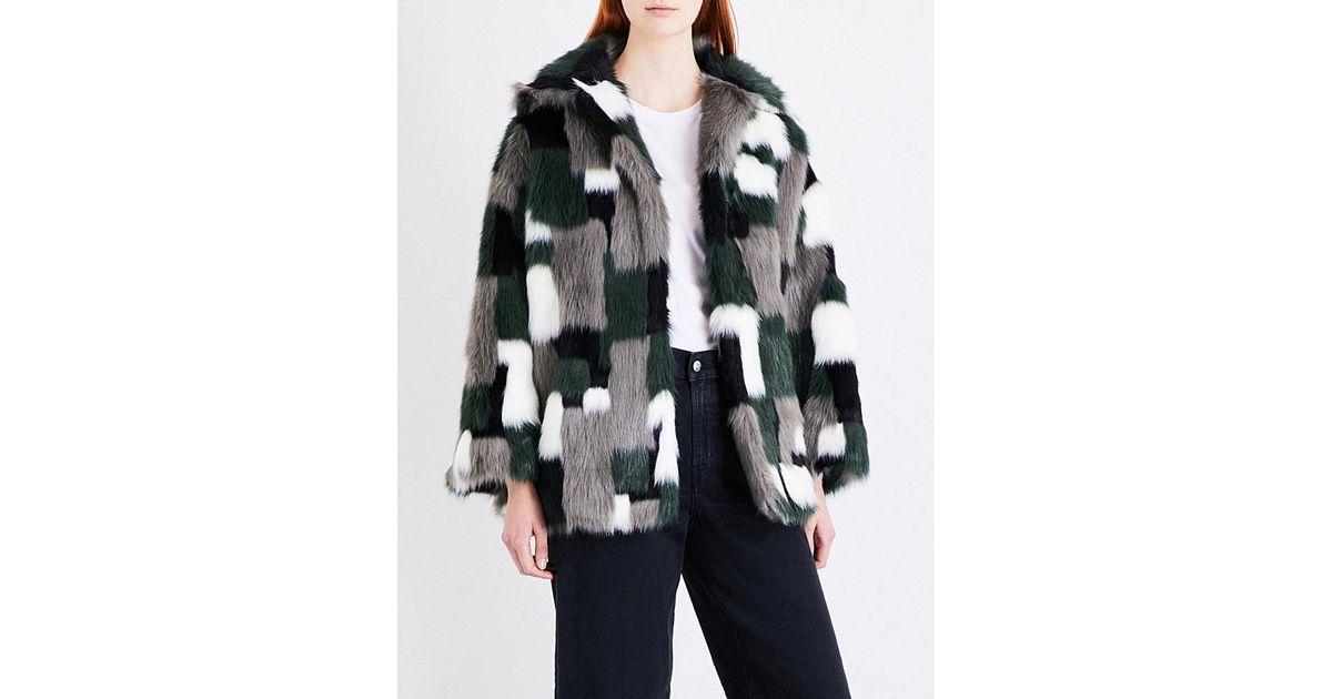 b1a4238709b37 DIESEL   Black L-zeky Patchwork Faux-fur Jacket   Lyst