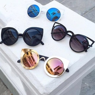 sunglasses round sunglasses mirrored sunglasses classy girly wishlist free vibrationz quay glasses sunnies accessories accessory summer summer accessories white black blue brown gold