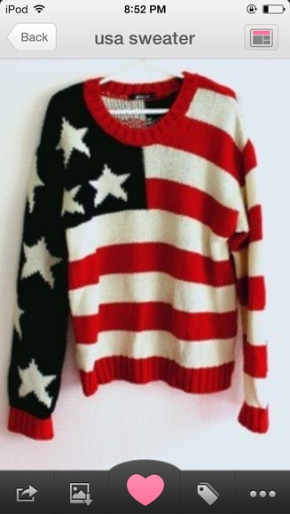 shirt usa red blue stars sweater stripes white