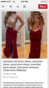 dress,maroon/burgundy,prom dress,backless,red dress,sexy prom dress
