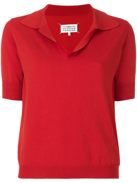 top women cotton red