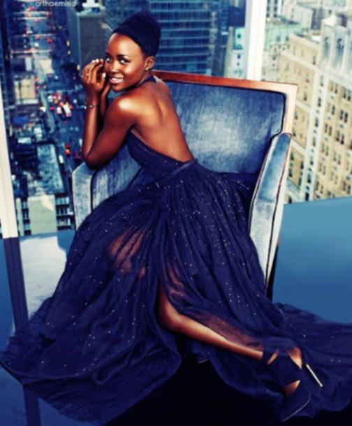 Dress Prom Dress Prom Dark Blue Dark Blue Dress Stars Maxi
