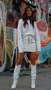 skirt,all white everything,rocky barnes,instagram,blogger,blogger style,fall outfits